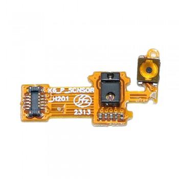 Шлейф Lenovo K910 Vibe Z с кнопкой вкл/выкл и датчиком освещенности