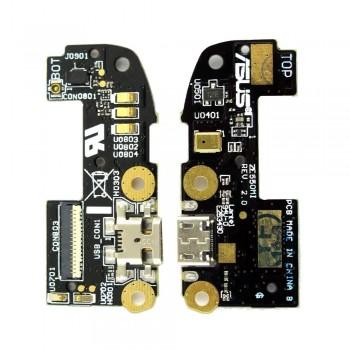 Нижняя плата Asus ZenFone 2 (ZE550CL) с разъемом зарядки и микрофоном