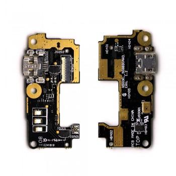 Нижняя плата Asus ZenFone 5 (A500CG) с разъемом зарядки и микрофоном