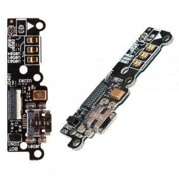 Нижняя плата Asus ZenFone 6 (A600CG) с разъемом зарядки и микрофоном