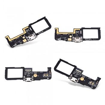 Нижняя плата Asus ZenFone C (ZC451CG) с разъемом зарядки и микрофоном