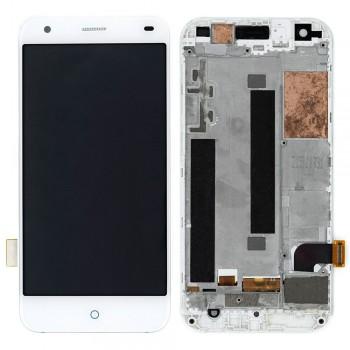 Дисплей ZTE Blade S6 с тачскрином (White) в рамке