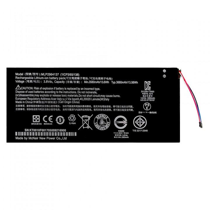 Аккумулятор Acer MLP2964137 для Acer Iconia One 7 B1-730 / B1-730HD (3680 mAh)