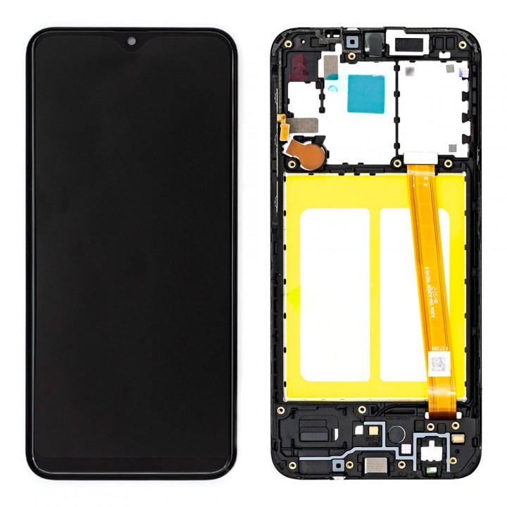 Дисплей Samsung A202 Galaxy A20e (2019) с тачскрином (Black) (Original) в рамке