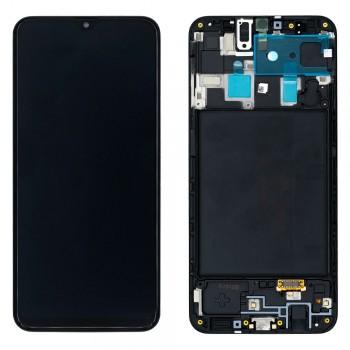 Дисплей Samsung A205 Galaxy A20 (2019) с тачскрином (Black) (OLED-экран) (Original PRC) в рамке