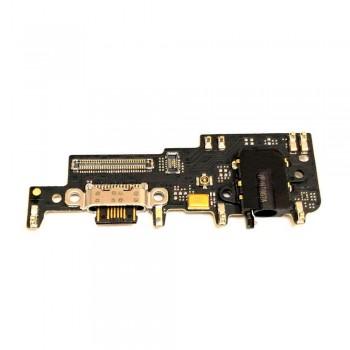 Нижняя плата Meizu 15 Lite с разъемом зарядки и микрофоном