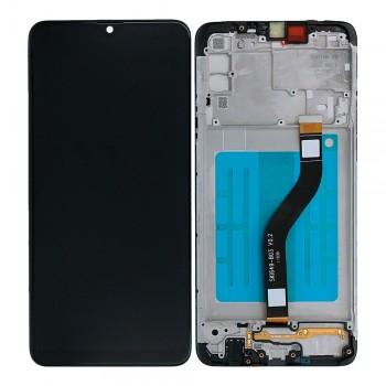 Дисплей Samsung A207 Galaxy A20s (2019) с тачскрином (Black) (Original) в рамке