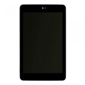 Дисплей Asus ME370T Google Nexus 7 (Wi-Fi) с тачскрином (Black) в рамке