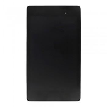 Дисплей Asus ME571K Google Nexus 7 2013 (3G) с тачскрином (Black) в рамке