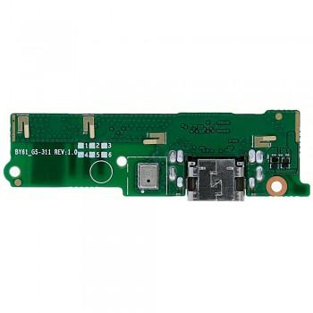 Нижняя плата Sony G3412 Xperia XA1 Plus с разъемом зарядки и микрофоном (Original)