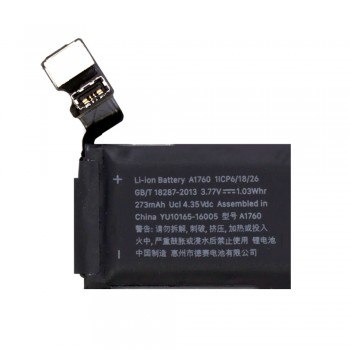 Аккумулятор A1760 для Apple Watch Series 2 (38mm) (273 mAh) (Original PRC)