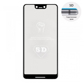 Защитное стекло 5D Full Glue для Google Pixel 3 XL (Black)