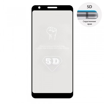 Защитное стекло 5D Full Glue для Google Pixel 3A (Black)