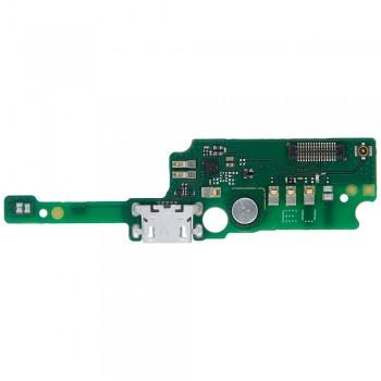 Нижняя плата Alcatel OT-5080X One Touch Shine Lite с разъемом зарядки и микрофоном
