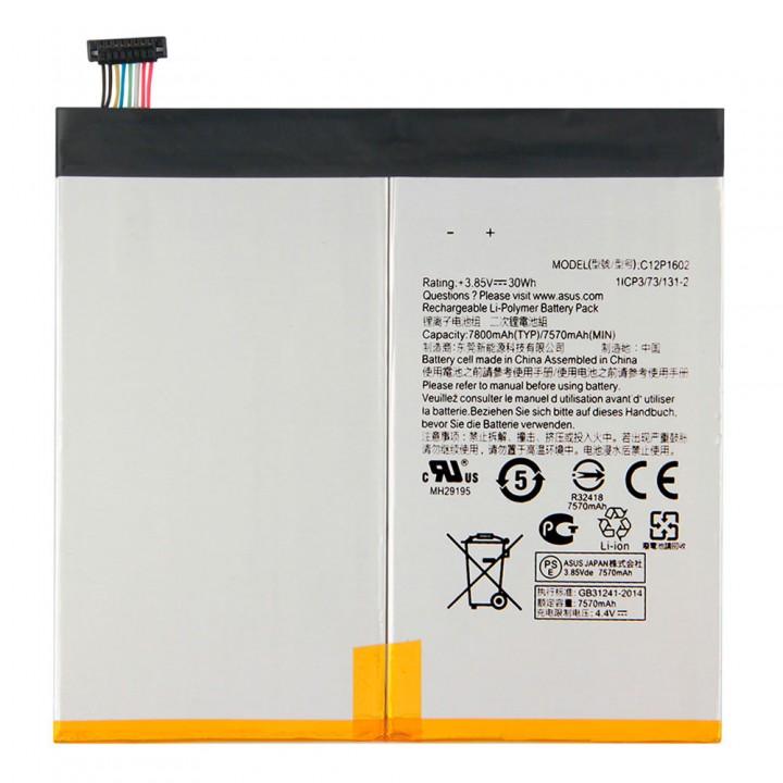 Аккумулятор Asus C12P1602 для Asus ZenPad ZT500KL Z10 / Z500KL 3S 10 LTE (7800 mAh)