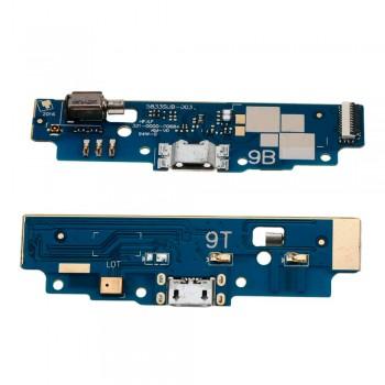 Нижняя плата Asus ZenFone Go (ZB452KG) с разъемом зарядки и микрофоном