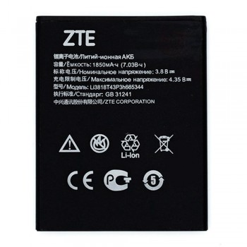 Аккумулятор ZTE Li3818T43P3H665344 для ZTE Blade GF3 (1850 mAh)