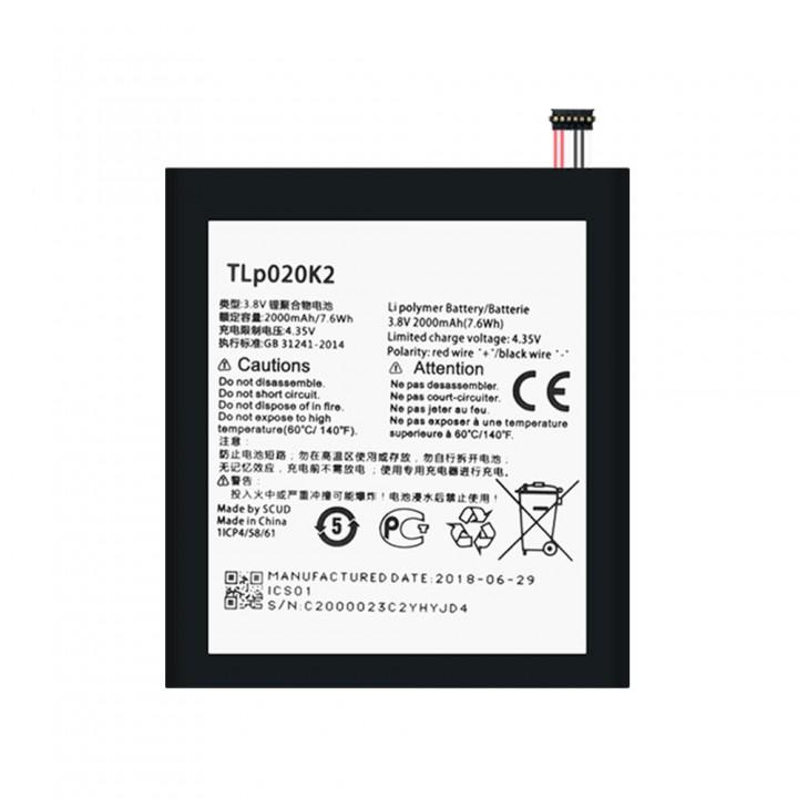 Аккумулятор Alcatel TLp020K1 / TLp020K2 (2000 mAh)