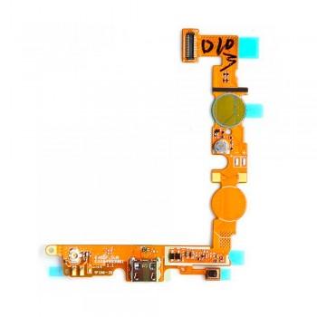 Нижняя плата LG E455 Optimus L5 Dual SIM с разъемом зарядки и микрофоном