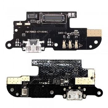 Нижняя плата Meizu M6 (M711) с разъемом зарядки и микрофоном