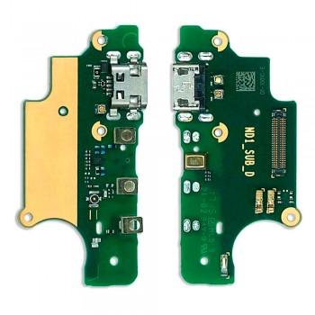 Нижняя плата Nokia 5 Dual Sim (TA-1053) с разъемом зарядки и микрофоном