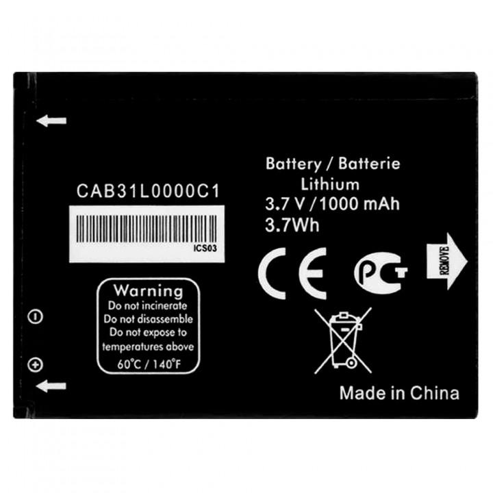 Аккумулятор Alcatel CAB31L0000C1 / CAB3120000C1 / CAB31L0000C2 (1000 mAh)