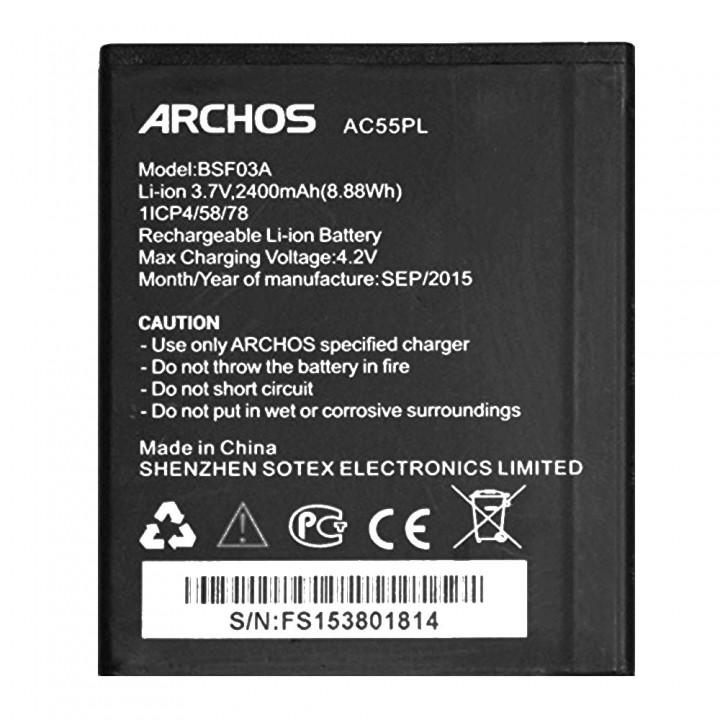 Аккумулятор Archos AC55PL для Archos 55 Platinum (2400 mAh)