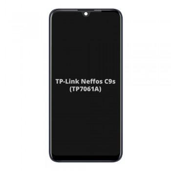 Дисплей TP-Link Neffos C9s с тачскрином (Black) (High Copy) в рамке