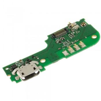 Нижняя плата TP-Link Neffos X1 Lite с разъемом зарядки и микрофоном