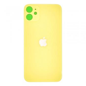 Задняя крышка для iPhone 11 (Yellow) (High Copy)
