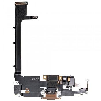 Шлейф iPhone 11 Pro Max с разъемом зарядки (Gold) Original