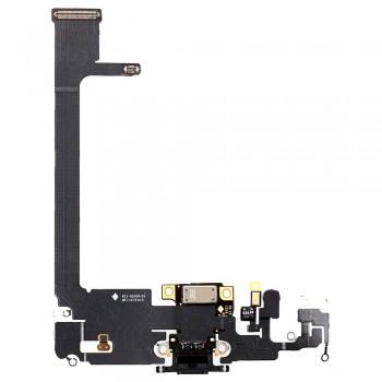 Шлейф iPhone 11 Pro Max с разъемом зарядки (Space grey) Original