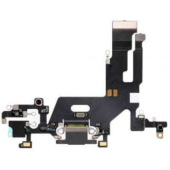 Шлейф iPhone 11 с разъемом зарядки (Black) Original
