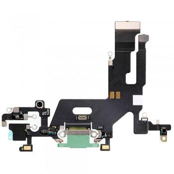 Шлейф iPhone 11 с разъемом зарядки (Green) Original