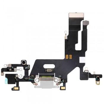 Шлейф iPhone 11 с разъемом зарядки (White) Original