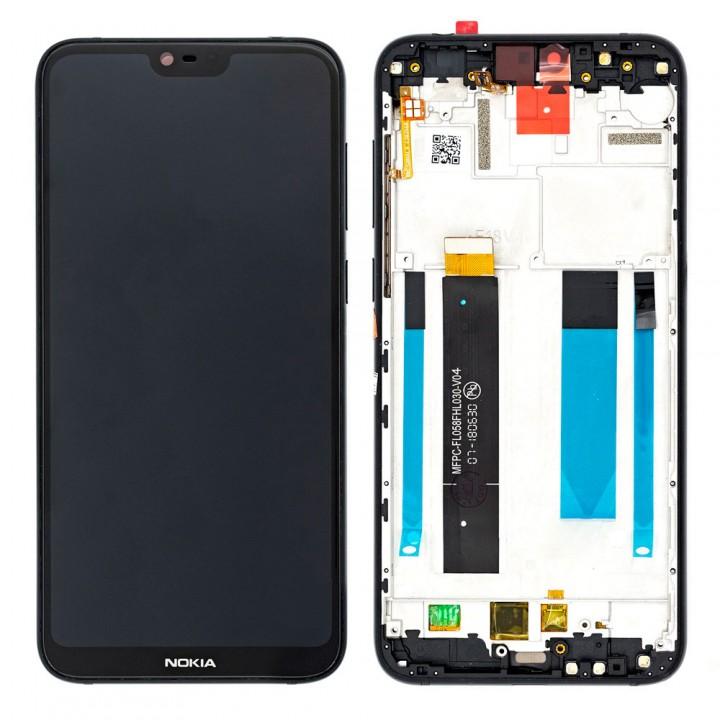 Дисплей Nokia 6.1 Plus с тачскрином (Black) Original PRC в рамке