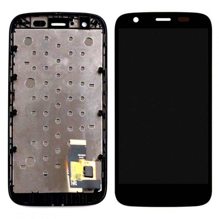 Дисплей Motorola XT1033 Moto G с тачскрином (Black) в рамке