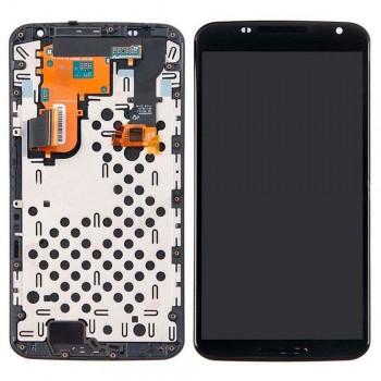 Дисплей Motorola XT1100 Nexus 6 с тачскрином (Black) в рамке