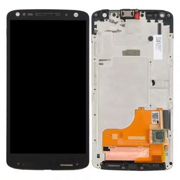 Дисплей Motorola XT1581 Moto X Force с тачскрином (Black) в рамке