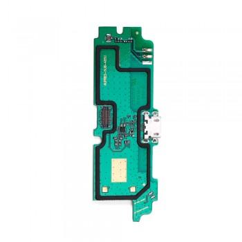 Нижняя плата Lenovo A850 с разъемом зарядки и микрофоном