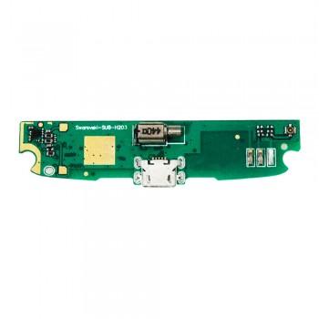 Нижняя плата Lenovo S820 с разъемом зарядки и микрофоном