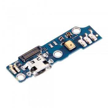 Нижняя плата Meizu M1 с разъемом зарядки и микрофоном