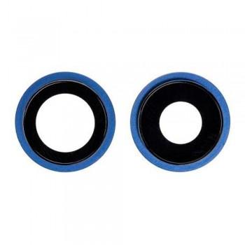 Стекло камеры для iPhone 12 mini в рамке (Blue) (Original PRC)