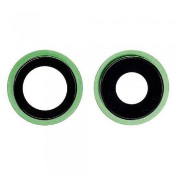 Стекло камеры для iPhone 12 mini в рамке (Green) (Original PRC)