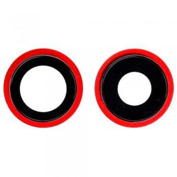 Стекло камеры для iPhone 12 mini в рамке (Red) (Original PRC)