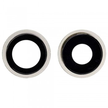 Стекло камеры для iPhone 12 mini в рамке (White) (Original PRC)