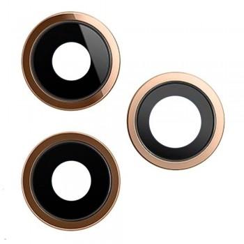 Стекло камеры для iPhone 12 Pro Max в рамке (Gold) (Original PRC)