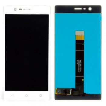 Дисплей Nokia 3 с тачскрином (White) Original PRC