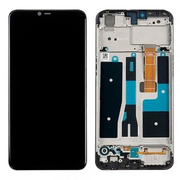 Дисплей Oppo A5s с тачскрином (Black) в рамке