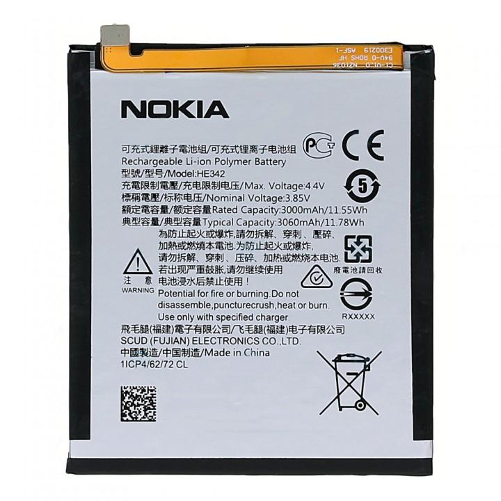 Аккумулятор Nokia HE342 для Nokia 7.1 / Nokia 5.1 Plus (3060 mAh)
